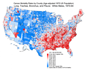 Cancer Deaths Mortality Rates By County State Diabetes